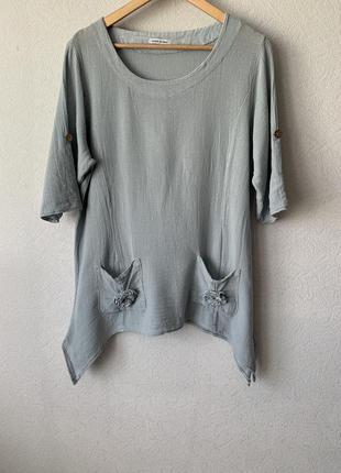 Блуза льон