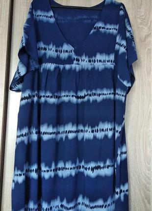 Итальнская натуральная туника туніка блузка блуза блузон размер 58-60