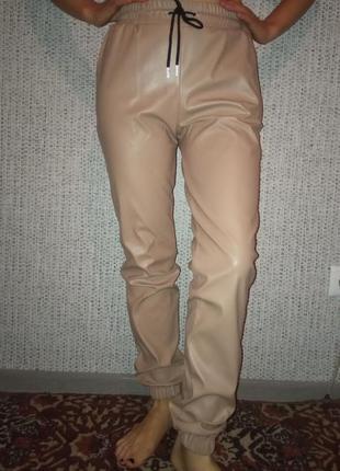 Спортивные штаны эко кожа