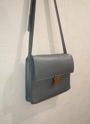 Кожаная сумочка через плечо баглет bagllet