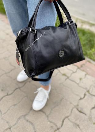 Женская кожаная сумка. вместительная сумка. polina&eiterou.