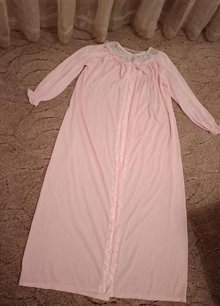 Винтажный пеньюар ночнушка ночная сорочка макси