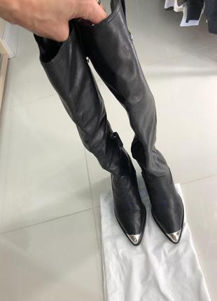 Шикарные роскошные необыкновенные ботфорты сапоги ботинки