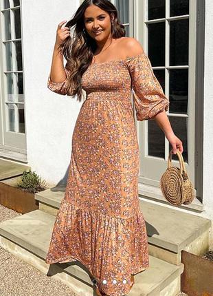 Нежное платье макси george цветочний принт довге плаття,сукня