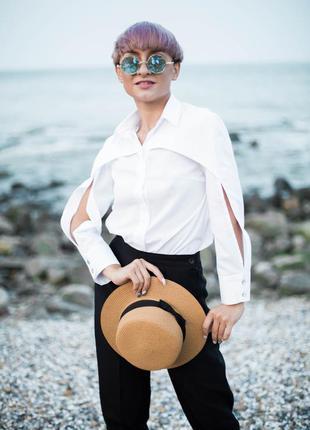 Рубашка блуза белая xs