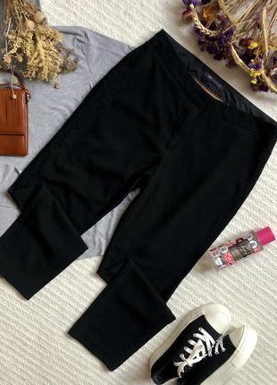 Классические зауженные брюки чёрного цвета