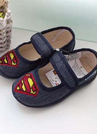 Детские тапки тапочки для сада супермен