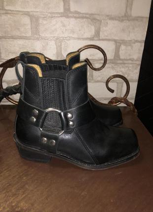 Кожаные байкерские мото-ботинки spirit motors deluxe cowboy