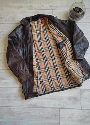 Винтажная кожаная куртка burberry's burberry