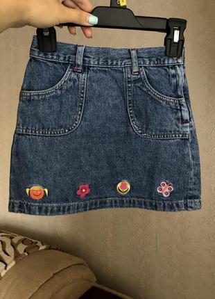 Джинсовая юбка h&m на девочку 104 рр 2-3-4 года