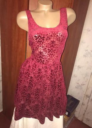Трендовое велюровое бархатное платье