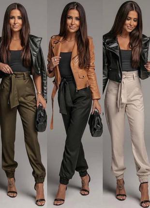 Брюки женские классические брюки коттон