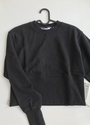 Укороченный пуловер с зип замком сбоку dkny черное dp0t7966 оригинал