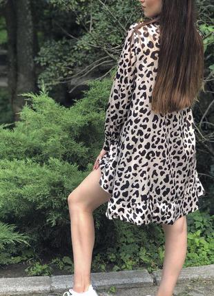 Красивое платье с принтом/сатиновое платье