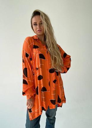 Стильная туника-рубашка оверсайз италия
