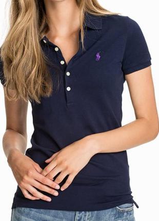 Футболка женская polo ralph lauren темно синяя розмер м