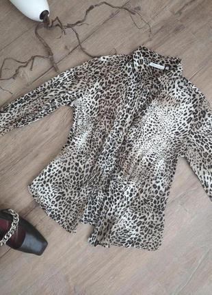 Леопардовая рубашка eterna. оригинал!