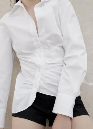 Асиметрична сорочка zara sale 85% 🔥🤎