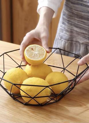 Корзина для фруктов металлическая