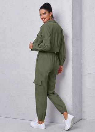 Костюм микровельвет, стильный костюм, 3 цвета