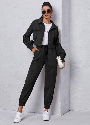 Костюм микровельвет, костюм брюки и пиджак, 3 цвета