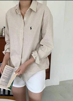Шикарная хлопковая рубашка/блуза polo