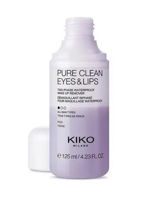 Двухфазная жидкость для снятия макияжа.