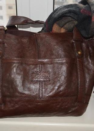 Кожаная сумка fossil vintage. luxury. шикарная, в аутентичном винтажном стиле