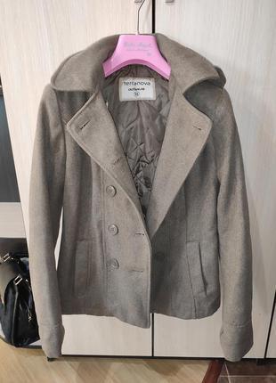 Пальто куртка пилжак утепленное полупальто xs