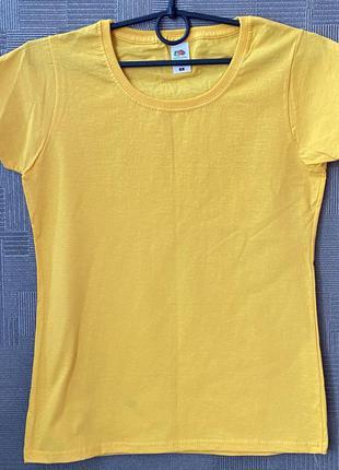 Женская футболка хлопок 100% базовая ruit of the loom