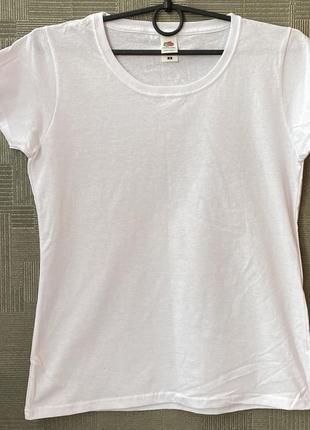 Женская базовая  футболка 100% хлопок fruit of the loom