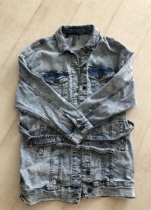 Модная удлиненная джинсовка!