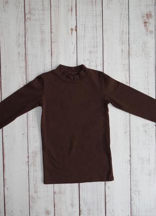 Гольф детский рибана коричневый лио