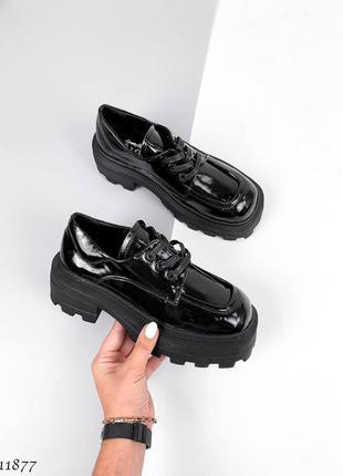 Туфли лоферы броги оксфорды кожаные
