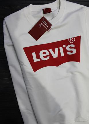 Свитшот белый кофта светр свитер levis світшот білий спортивний