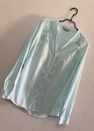 🍀красивая натуральная блуза с вышивкой
