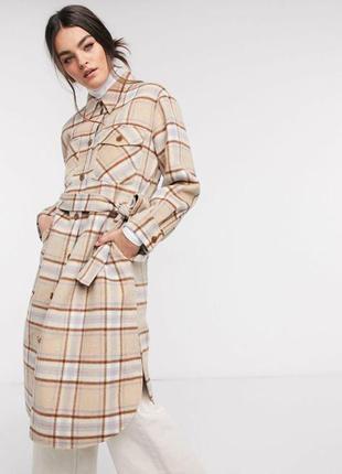 Пальто рубашка шерсть - альпака