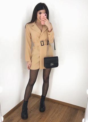 Платье пиджак 3 цвета габардин