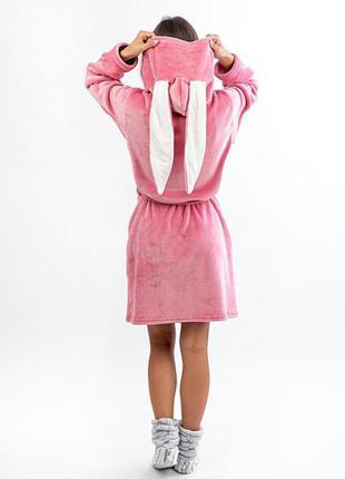 Халат для підлітків, попелясто-рожевий