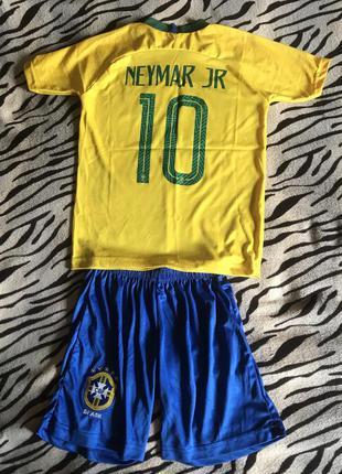 Детская футбольная форма футболка неймар бразилия неймар neymar