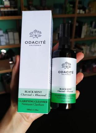 Угольный антисептический гель для умывания odacite black mint clarifing cleanser