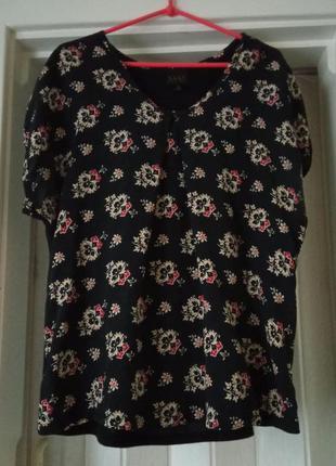 Блуза шелк-вискоза большой размер