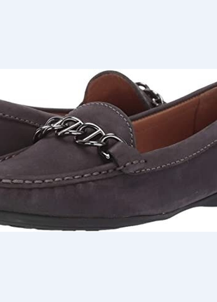 Балетки туфли лоферы мокасины driver club usa us8,5 eu39-39,5 кожа цвет графит