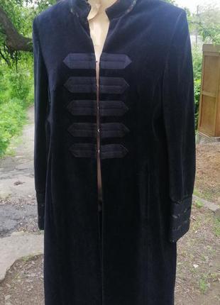 Karen millen винтажное бархатное пальто.