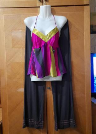 Брендовая шикарная новая  пижама шелк вискпоза  р.10 от  debenhams
