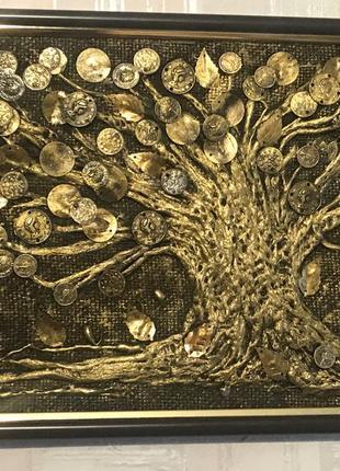 Картина - панно денежное дерево