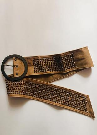 Очень красивый кожаный ремень /пояс 😍