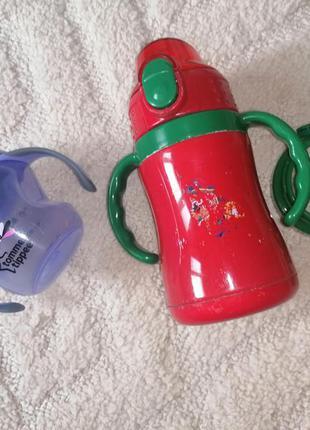 Поильник + термос с трубочкой + стакан для мамы