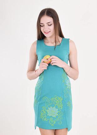 Розпродаж!!! сукня з вишивкою по бокам, спереду та позаду