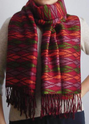 Яркий шарф-шаль палантин в этническом стиле